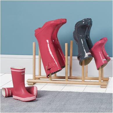 Dónde guardar las botas de agua.