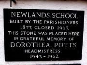Newlands School sign at Newlands Church