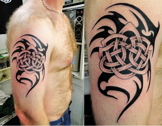 celtic tribal tattoos on half sleeves