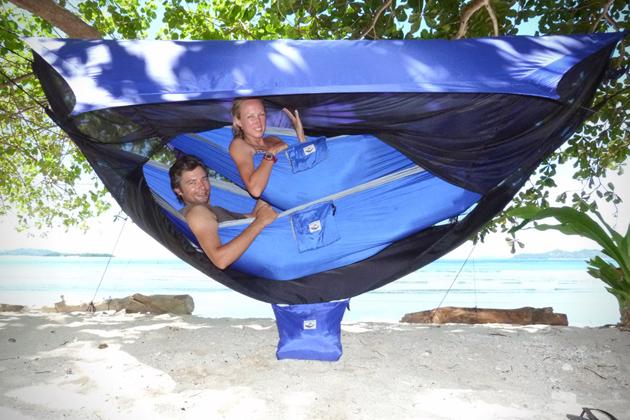 *雙人吊床帳篷:雨天也不怕地上濕冷侵襲! 1
