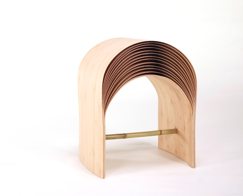 *彈性彎曲竹凳子:設計師陳旻傳統美學精湛呈現! 1