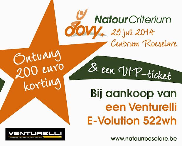 win een VIP ticket natourcriterium bij aankoop bij Bonaventure