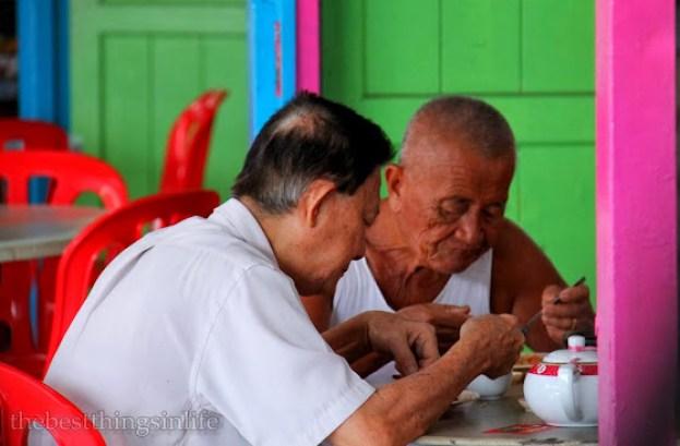 Uncles having lunch at Pulau Ketam.