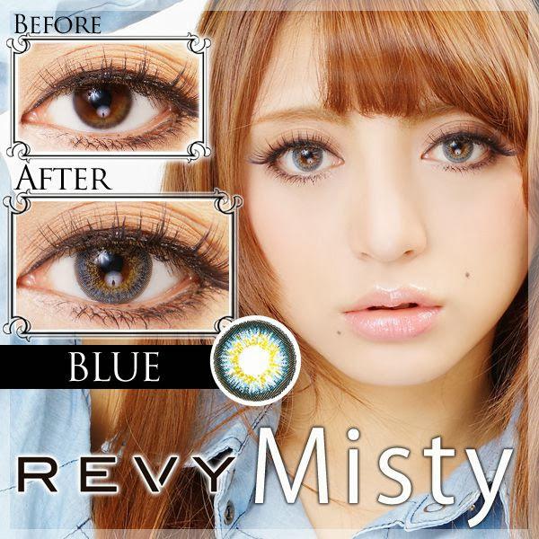 【限定クーポンあります】REVY Misty(ミスティ)度あり&度なしカラコン ブルー 青コン 商品画像