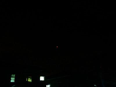 Flying lantern in the sky