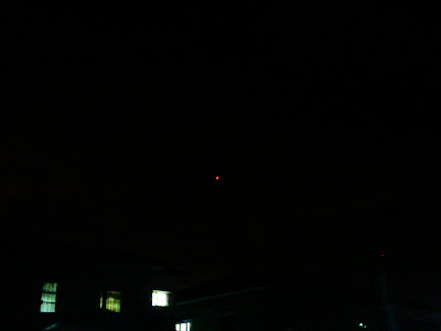 Flying lantern in the sky
