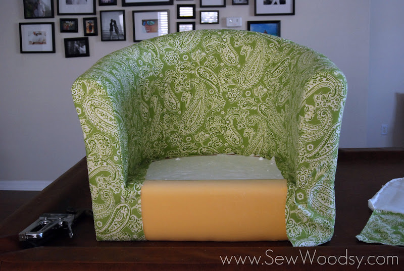 ikea chair covers tullsta silver office recovering the sew woodsy