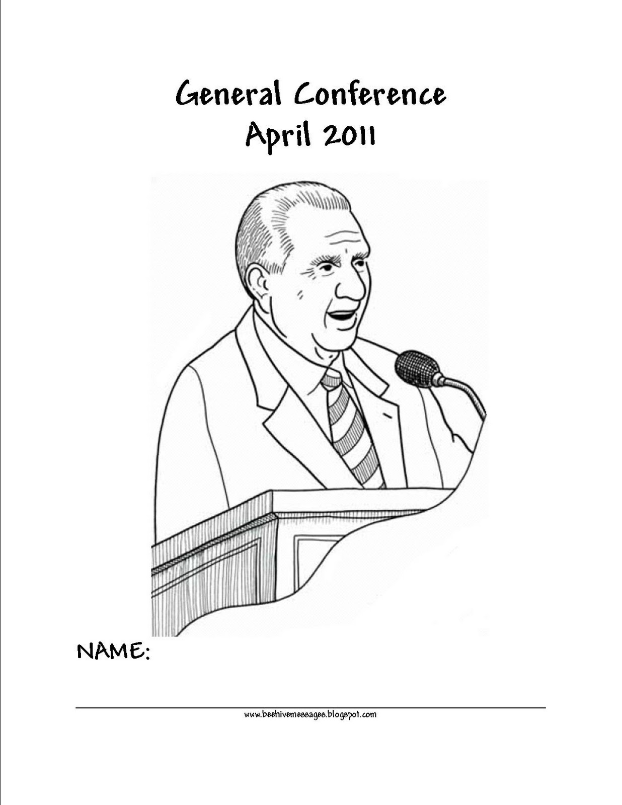 Beehive Messages: General Conference Packet April 2011