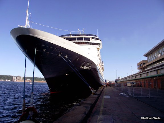 MS Amsterdam at the docks in durban