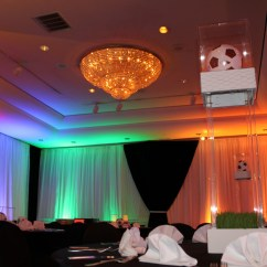 Chair Cover Rentals Washington Dc Stressless Ekornes Bar Mitzvah At The Hilton Rockville Drapes Lighting