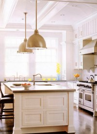 kitchen cabinets island shelves cabinetry white walnut ...