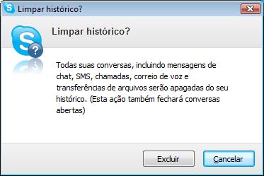 apagar histórico skype