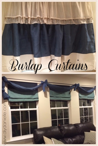 How to use burlap to make beautiful window treatments.