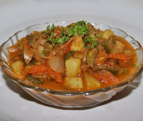 Kadai Vegetable Gravy Recipe