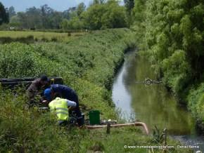 Extracción de crudo en el Río Torca