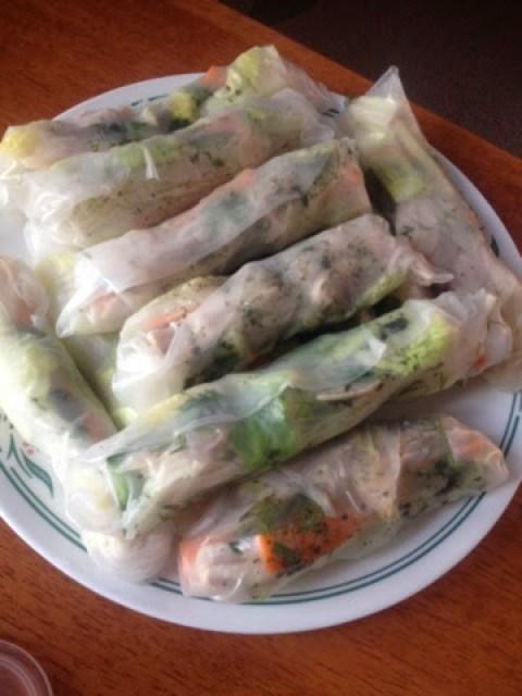 Homemade Vietnamese summer rolls