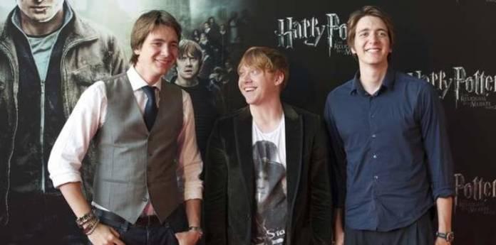Los actores que representaban a Ron Weasley y sus hermanos