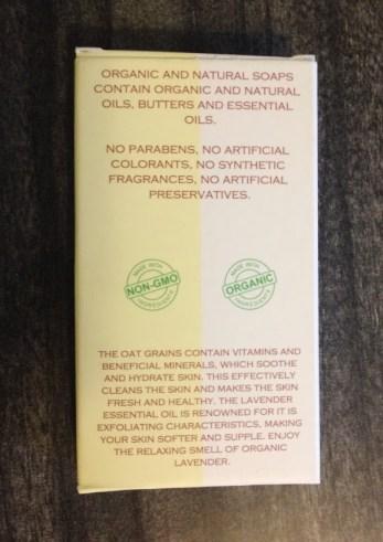 Salamandra Lavender Oats Soap back