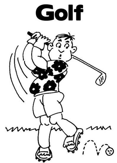 Pinto Dibujos: Golf para colorear
