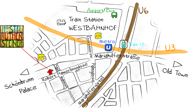 Hostel Ruthensteiner Map
