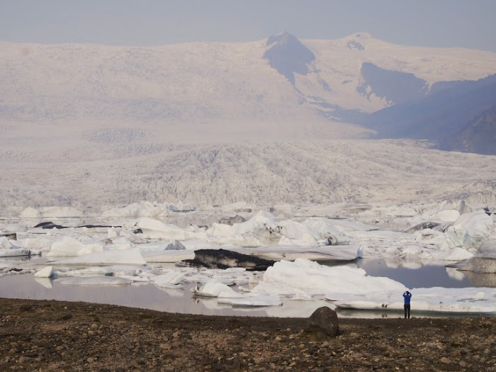 An iceberg lagoon in Iceland