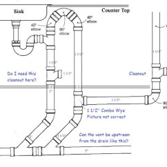 Combination Waste And Vent Diagram 2 Wire Inter System 27td7 Island Sink Venting Terry Love Plumbing Remodel Diy Img