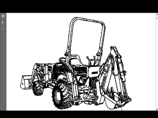 Kubota BT600 Parts Manual for BT 600 Tractor Backhoe P for