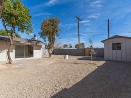 Backyard of home for sale in Phoenix AZ