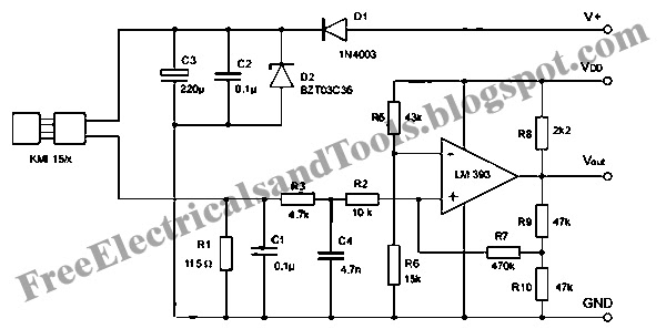 Wiring panel: Signal Conditioning Circuit for KMI 15 x