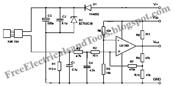 signal conditioning circuit for kmi 15 x rotation speed sensor