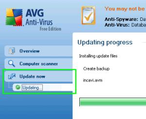 Manual Update AVG Free Antivirus Offline Mode