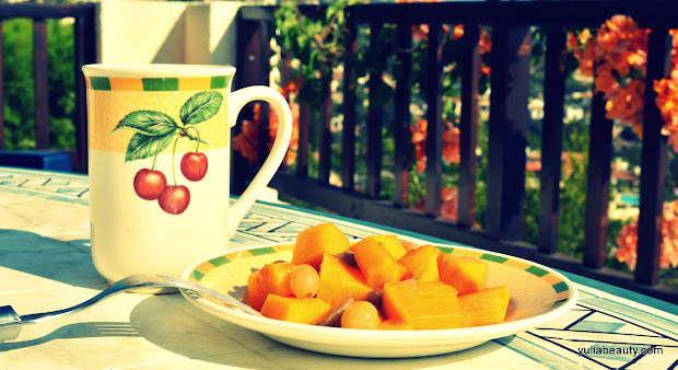 тыква тушеная с фруктами