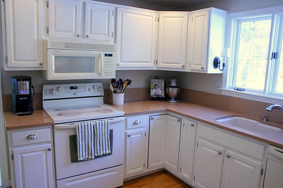 white kitchen cabinets before and after remodelaholic freshened up kitchen remodel around 28687