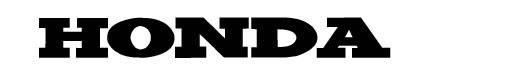 Hondafont font logo HONDA
