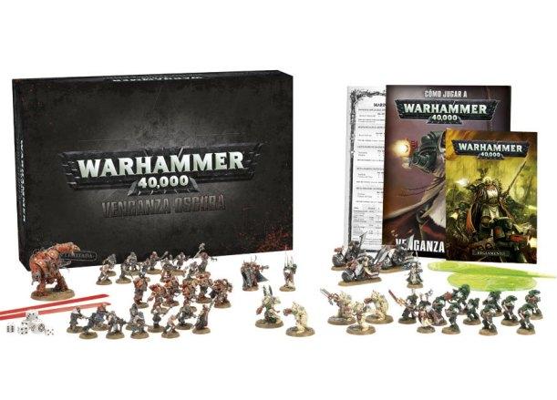 Contenidos de la caja de W40K: Venganza Oscura