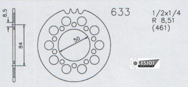 Kettenrad Puch 633 40 zähne Monza 6SL Cobra 6GT GTL andere
