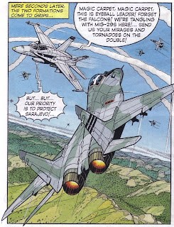A scene from Buck Danny - Ghost Squadron
