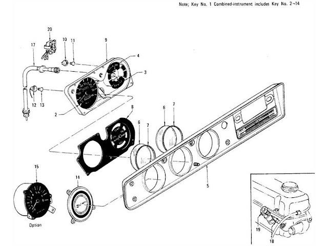 Datsun 1200 Speedometer, Combination Meter & Flexible