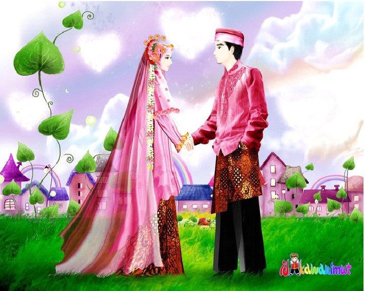 Gambar Kartun Kawin Muslimah