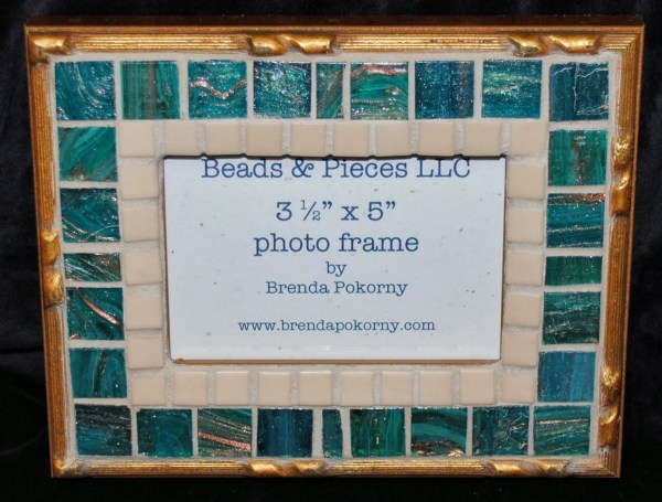 Mosaic Picture Frame Gold