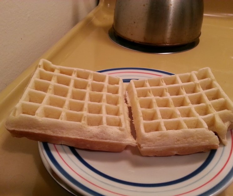 Waffles, ready to be fried