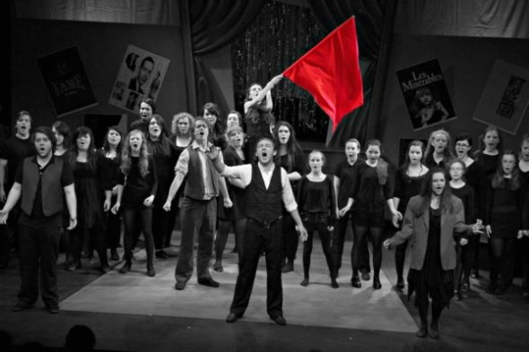 The cast of Make Mine A Musical performing at CRAIC Theatre in May this year