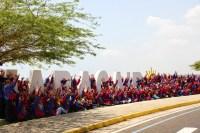 Como imagen emblemática de su paso por tierras marabinas, niños y niñas de todo el país sellaron el cierre musical del encuentro por Occidente frente al Lago de Maracaibo