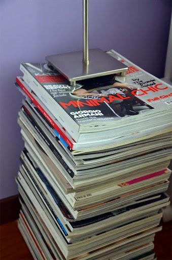 Decoración con revistas y periódicos.