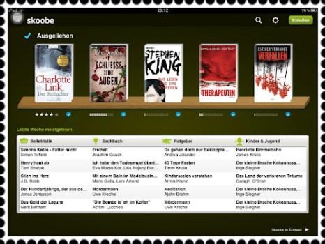 Screenshot meiner Skoobe-App.