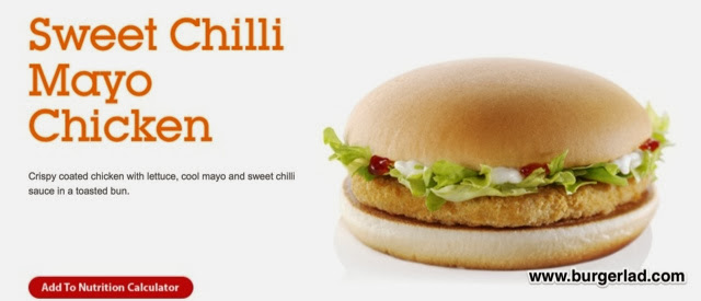 McDonald's Chicken BLC & Sweet Chilli Chicken