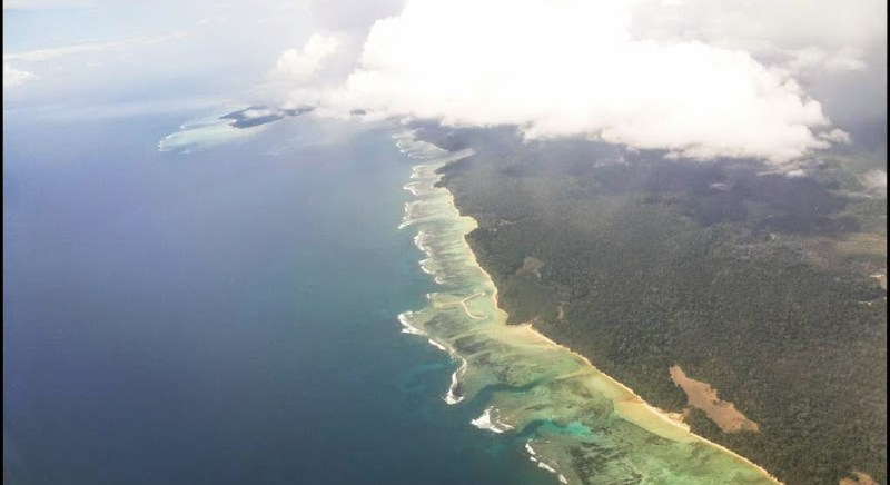 port blair from plane
