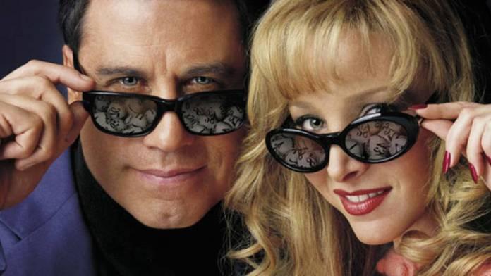 "John Travolta y Lisa Kudrow en ""Lucky numbers"""