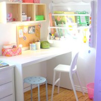 Bright Pastel Craft Room | Home Office Space from Barewunderbar