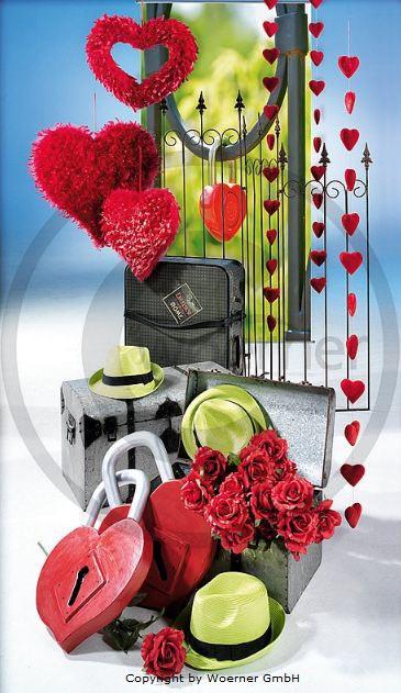 Ideas para decorar tiendas en San Valentín.